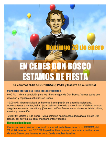 CEDES Don Bosco de fiesta.